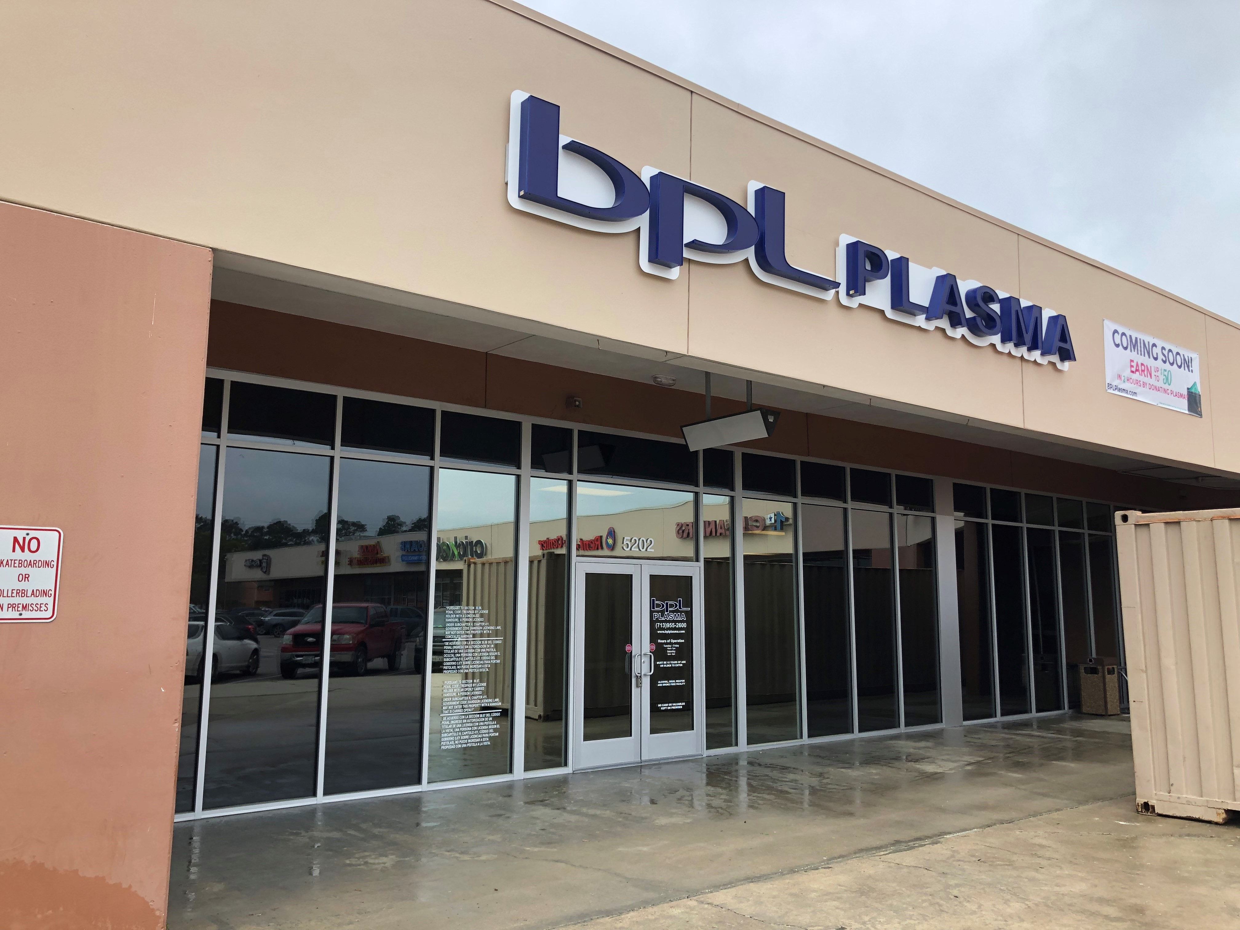 By donating plasma at our new Houston Aldine BPL Plasma center, you earn money and save lives!