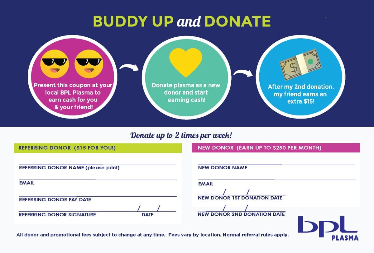Buddy referal coupon image.