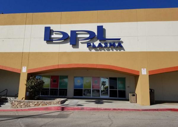 BPL Plasma located on Dyer St, El Paso is accepting donations of plasma and you earn good money.